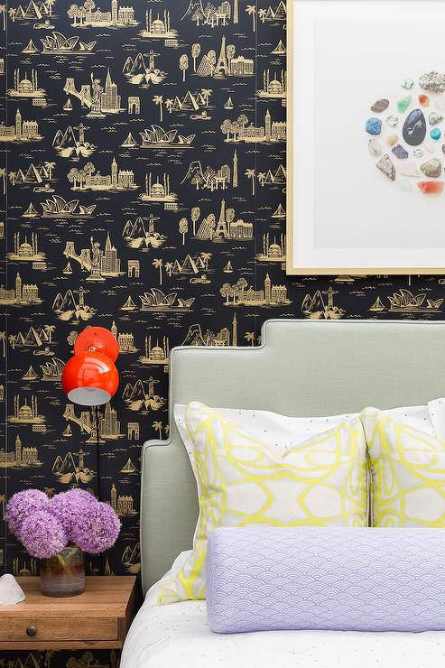 Bon Black And Gold Toile Wallpaper