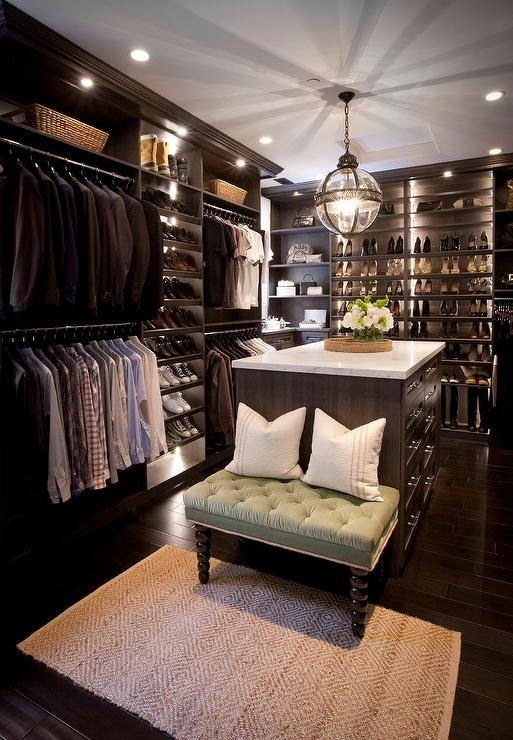Closet with two islands transitional closet - Pictures of walk in closets ...
