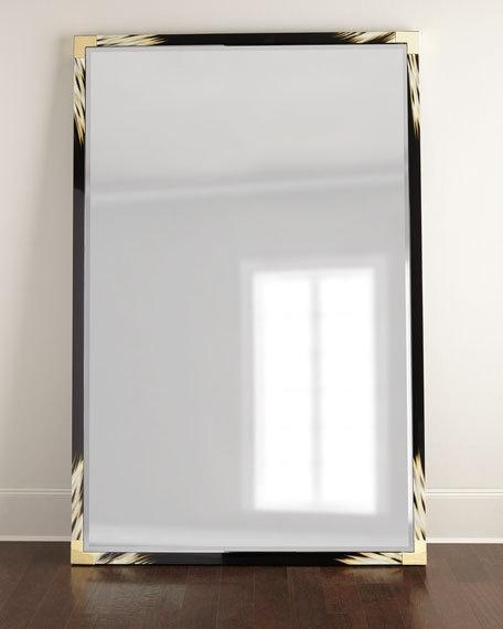 Chevron tile floor mirror for Black framed floor mirror