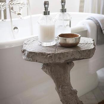 Bow Window With Roll Top Bathtub Transitional Bathroom