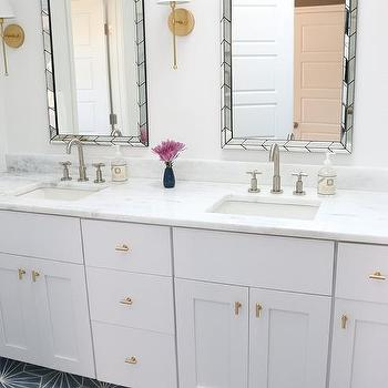 West Elm Chevron Tile Wall Mirror Design Ideas