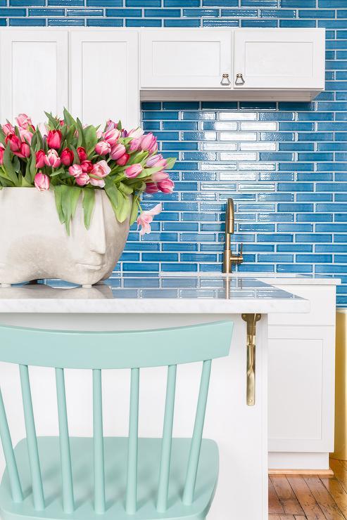 Blue Counter Stools Design Ideas
