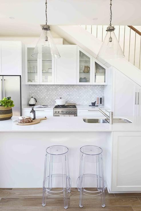 Kitchen Cabinets Under Staircase Transitional Kitchen