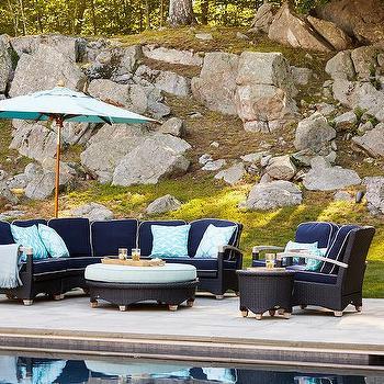 Powder Blue Outdoor Pillows Design Ideas