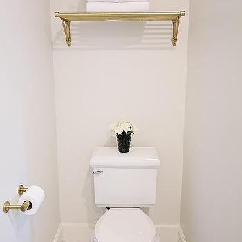 Brass Train Rack Over Toilet