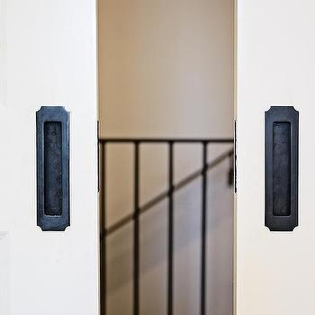 Pocket Doors With Black Steel Hardware