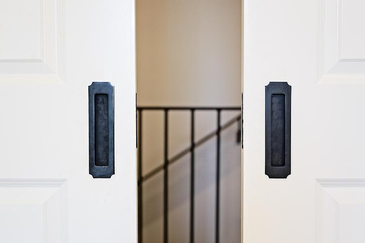 Pocket Doors With Black Steel Hardware View Full Size