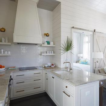 Small U Shaped Beach Style Kitchen
