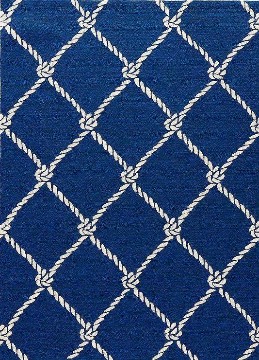 Nautical Boats Blue and White Rug