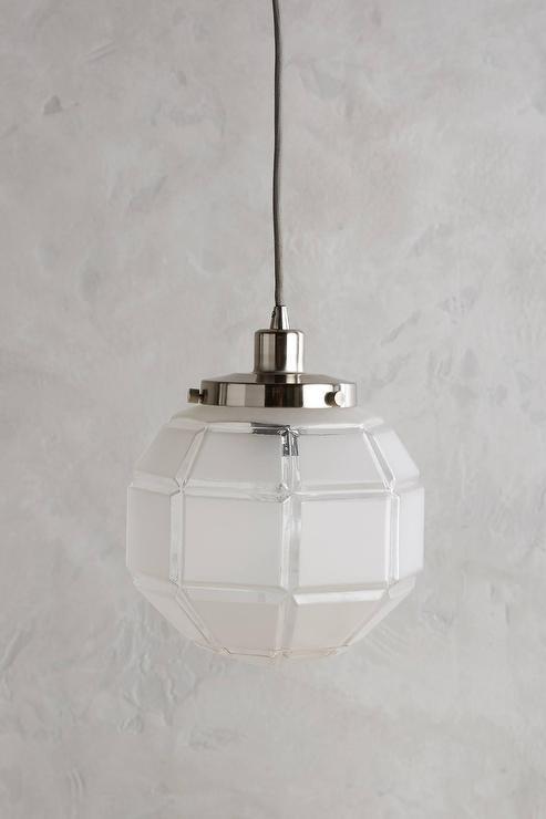 Silver Mercury Glass Globe Pendant