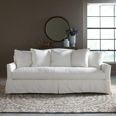 Cindy Crawford Home Beachside White Denim Sofa Sofas