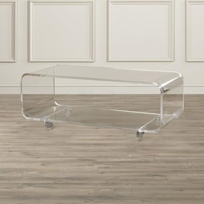 Edges Acrylic Caster Legs Coffee Table