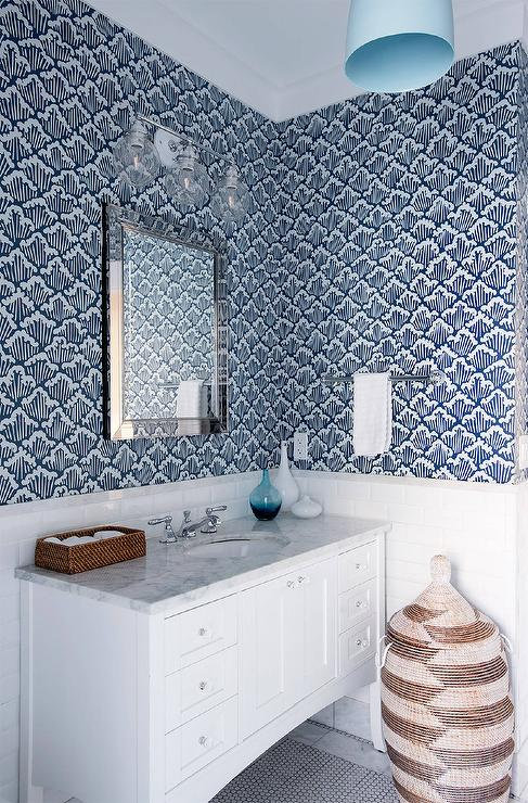 Gray Glass Bathroom Wall Tiles Transitional Bathroom
