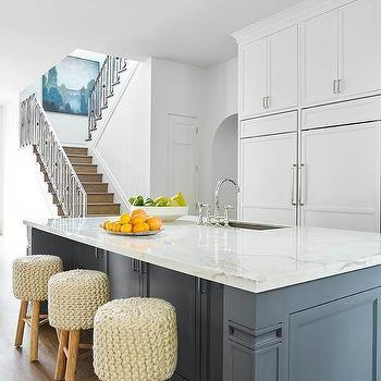 Slate Blue Kitchen Island