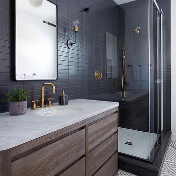 Matte Black Bathroom Wall Tiles Design Ideas - Matt black bathroom tiles