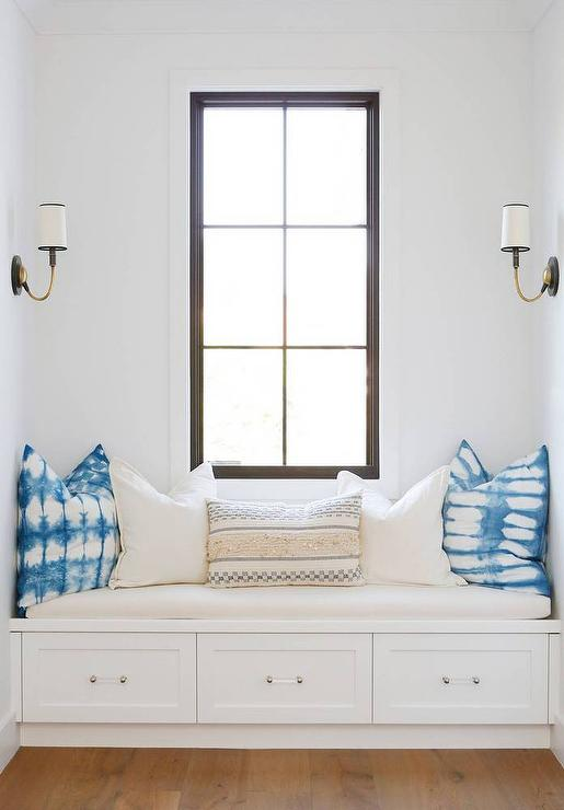 window seat with drawers fireplace window seat drawers with glass pulls transitional bedroom