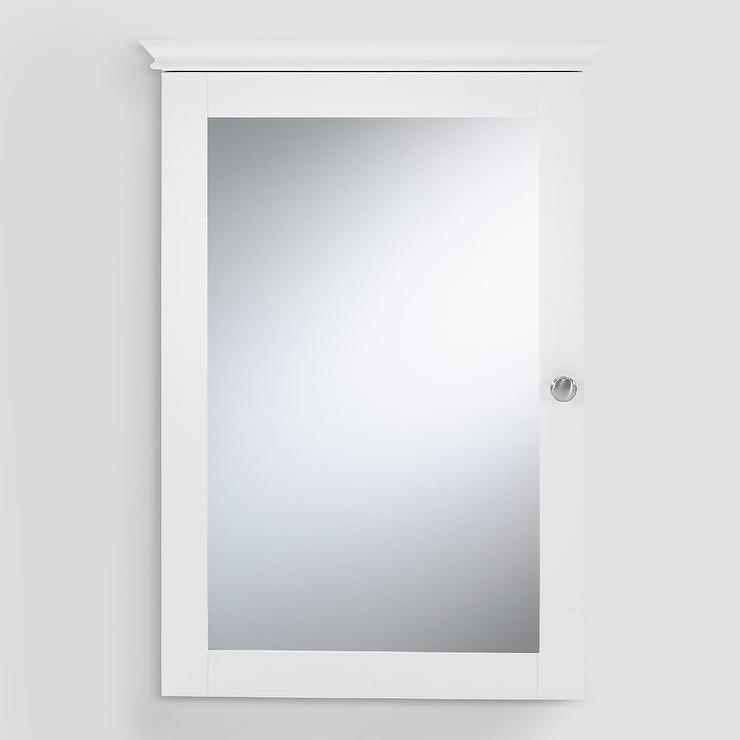 white mirrored door medicine cabinet view full size