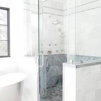Bardiglio Shower Backsplash Tiles Design Ideas