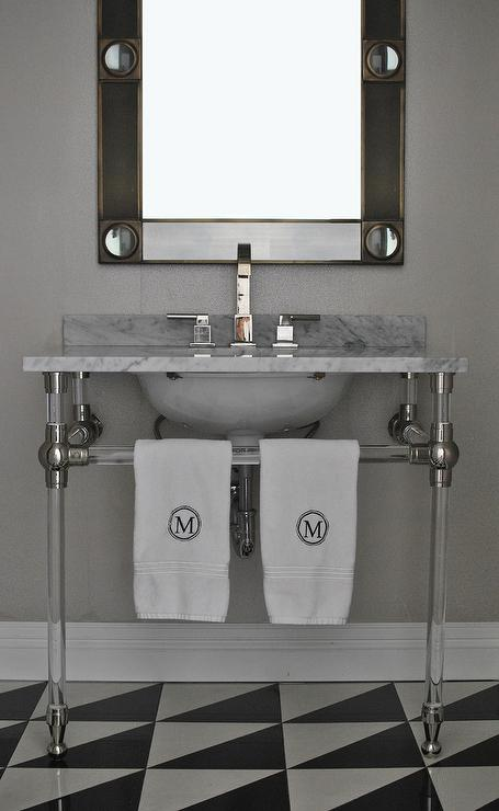 Industrial Metal Bathroom Vanity Design Ideas