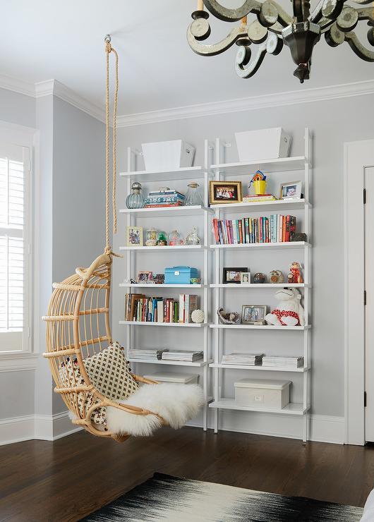 Girl Bedroom Hanging Chair Design Ideas