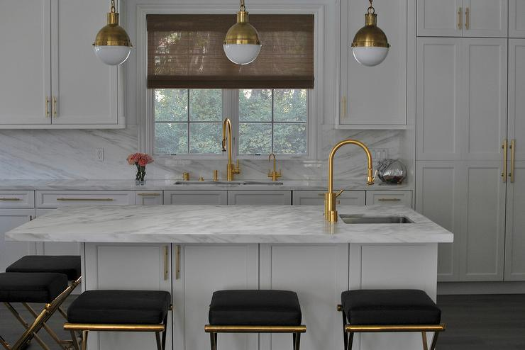 Gold And Black Barstools Design Ideas