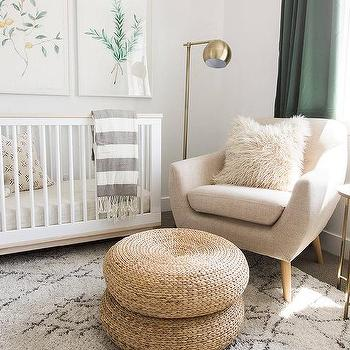 Black and white nursery floor lamp design ideas white and green nursery with convertible crib aloadofball Images