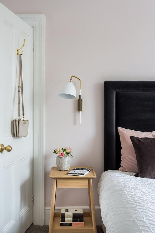 Blush Pink And Black Bedroom