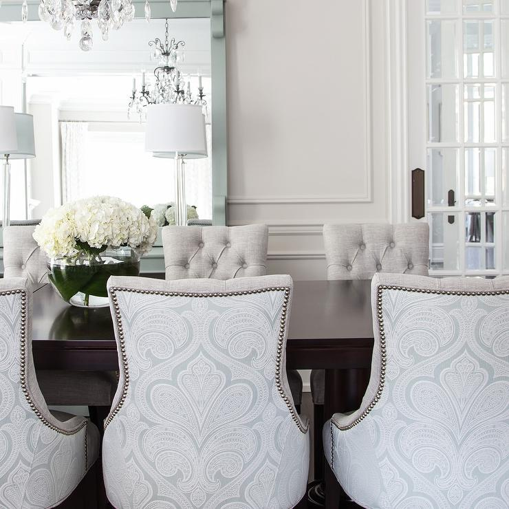 Damask Dining Chairs Design Ideas