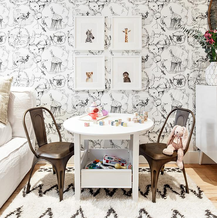 Black And White Nursery With Baby Animal Prints