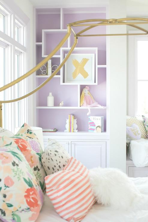Purple And Gray Teen Bedroom Design Ideas
