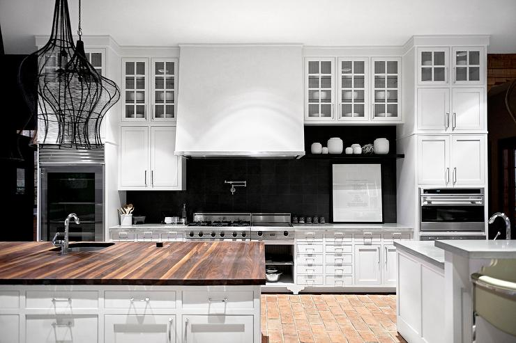 Black Grid Backsplash Contemporary Kitchen Cameron