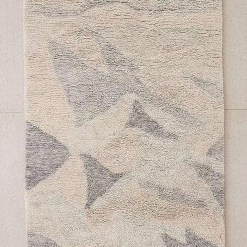 Steven Alan Crisscross Grey Shag Wool Rug