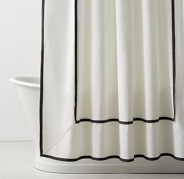 curtains ruffle embroidered hookless shower your off upgrade getmojito instantly curtain amazon to bath white stylish fabric