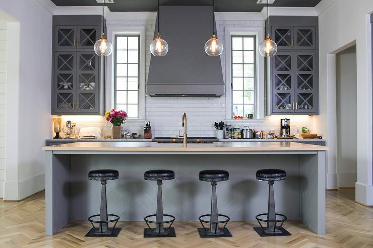 Charcoal Gray Kitchen Island Design Ideas