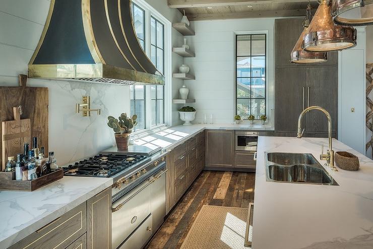 Copper Trim On Kitchen Hood Design Ideas