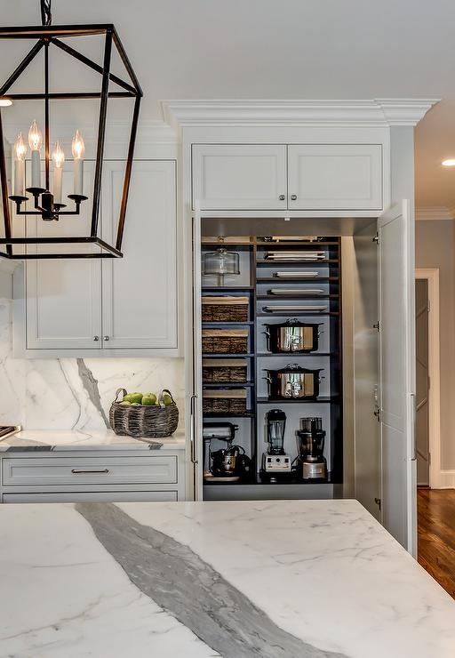 Kitchen Pantry With Open Shelving Transitional Kitchen