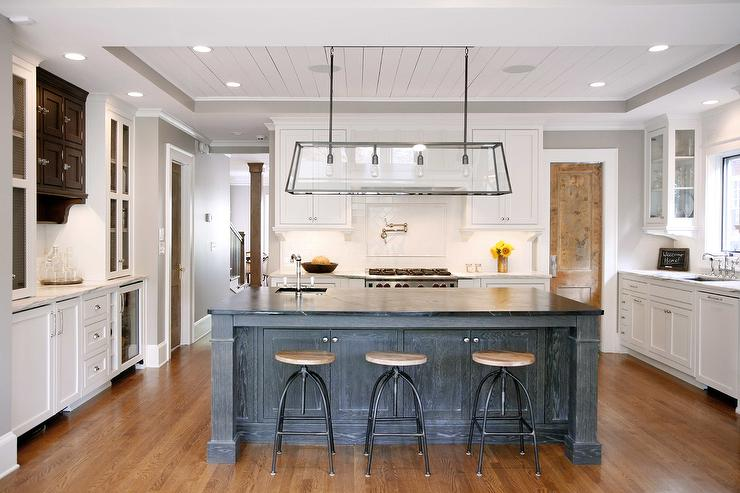 Sleek White Kitchens With Acrylic Bar Stools Transitional Kitchen