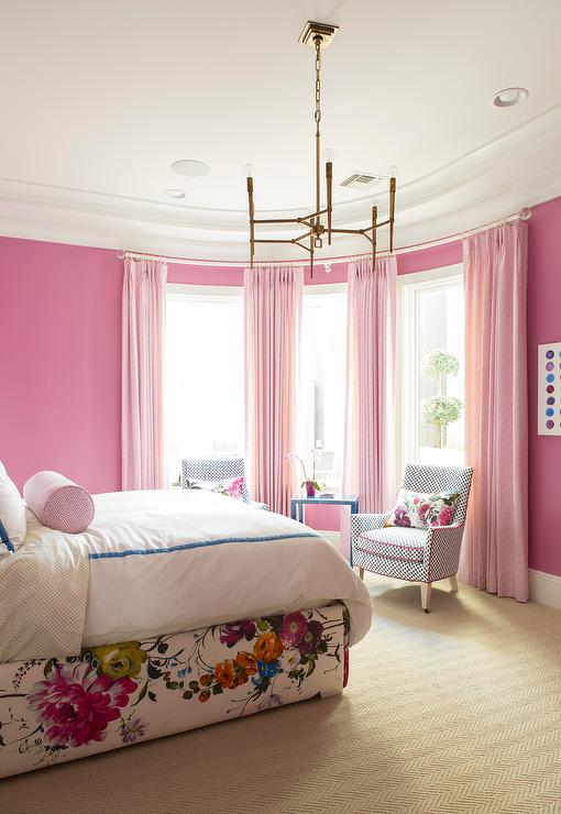 Bow Window with Pink Curtains - Contemporary - Girl\'s Room ...
