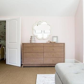 Light pink painted bedroom walls design ideas pink wall with brown grasscloth dresser aloadofball Gallery