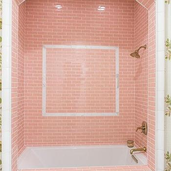 Captivating Girly Bathroom With Pink Shower Tiles Part 25