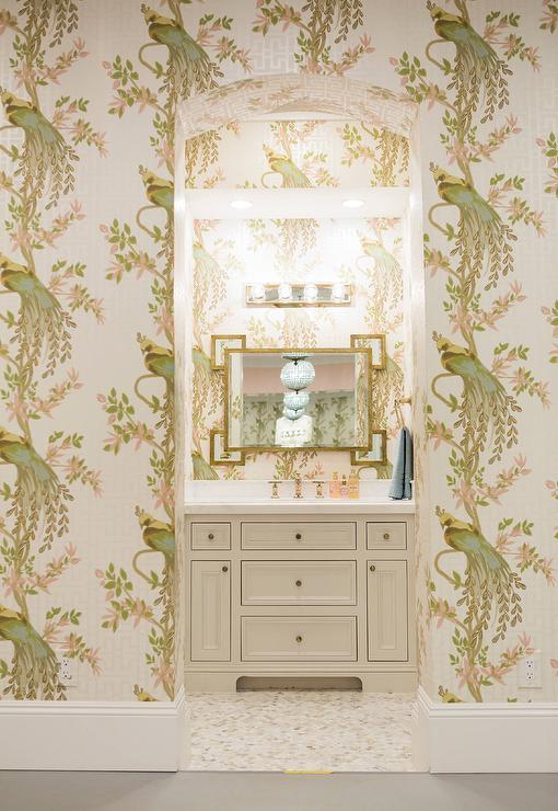 Interior design inspiration photos by caitlin wilson design - Nina campbell paradiso wallpaper ...