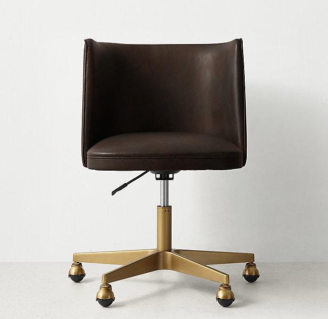 Devon Desk Leather Chair I High Fashion Home