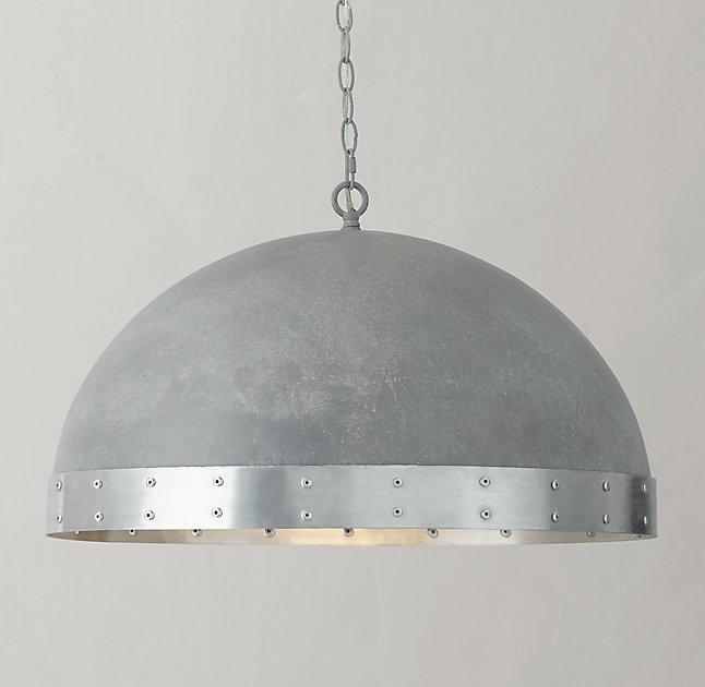 Riveted edge dome pendant silver riveted edge dome pendant aloadofball Images