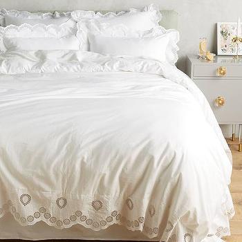 Plum And Bow Frayed Rose White Duvet Cover