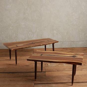 Brown Organic Live Edge Coffee Table