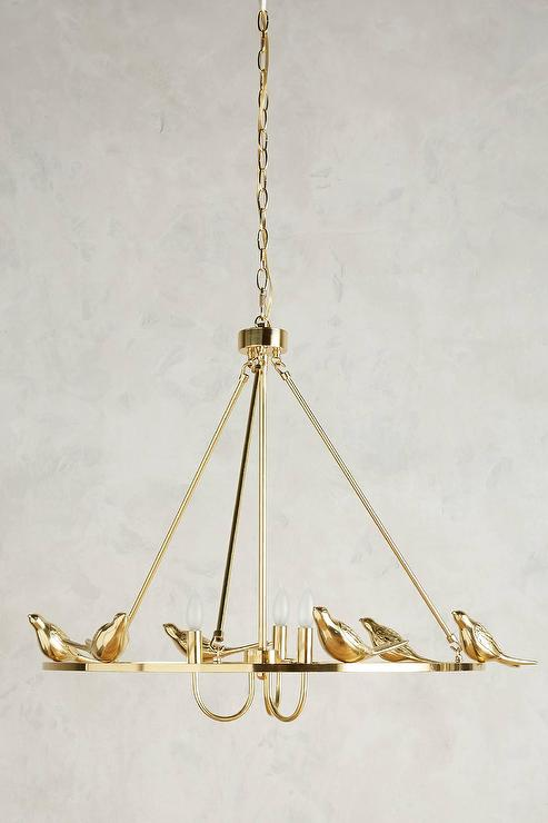Brass birds round chandelier mozeypictures Image collections