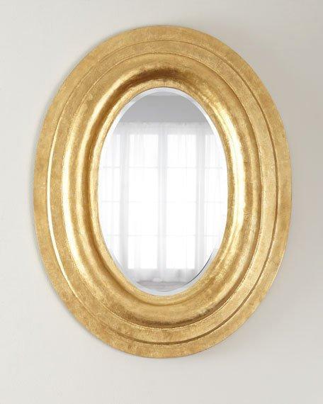 Oval Gold Leaf Frame Mirror