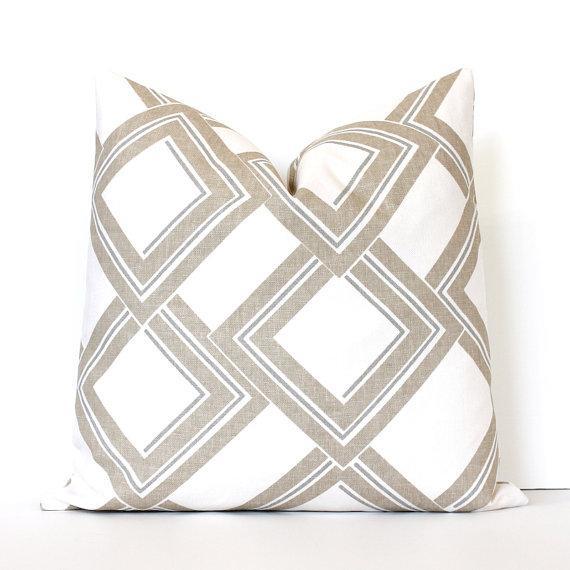 Tan Modern Decorative Designer Pillow Cover Throw Cushion Shapes