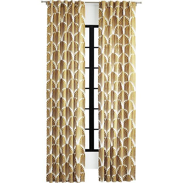 Gold Deco Pattern Curtain