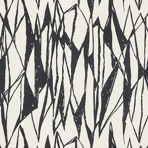 Gray And Ivory Abstract Linear Cotton Linn Fabric